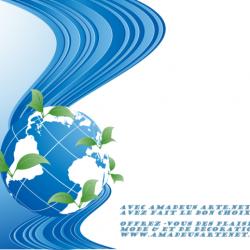 logo amadeusarte.net globe bleu