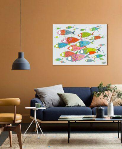 Collection foxtrot tableau ecailles-de-poissons marineb